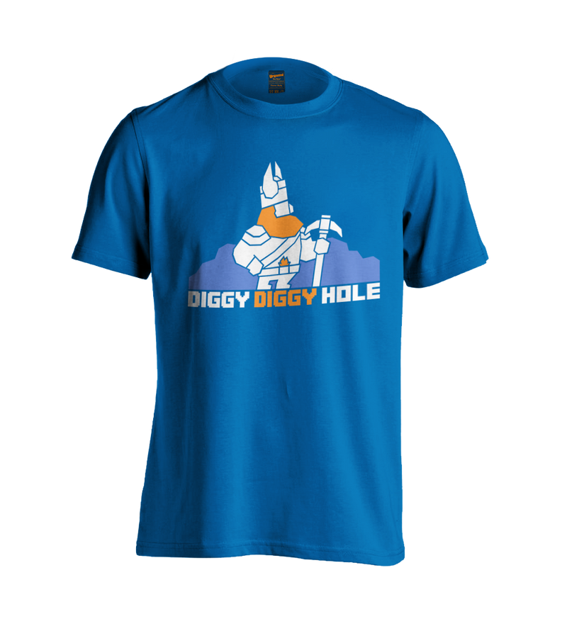 Yogscast: Lewis And Simon (Diggy Diggy Hole) Blue Girl's T-Shirt