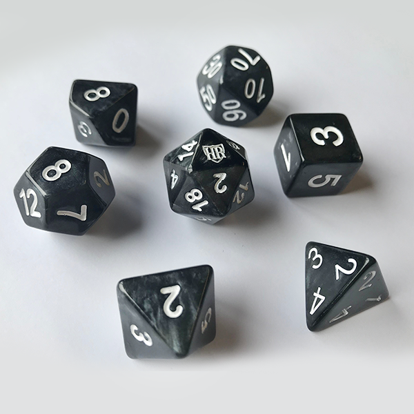 HighRollers Dice - Base Set and Velvet Bag