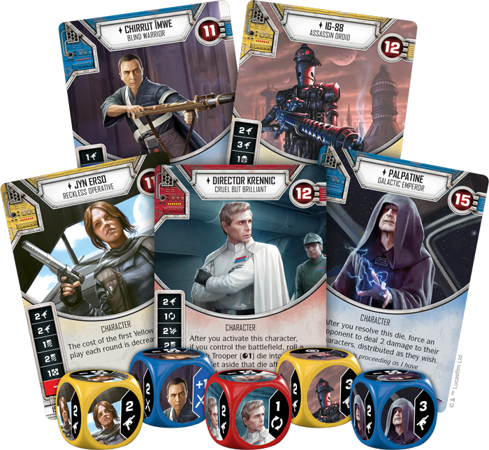 Star Wars Destiny Spirit of Rebellion cards
