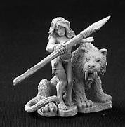 03253 Jungle Girl with Sabre Tooth Tiger - Leisure Games