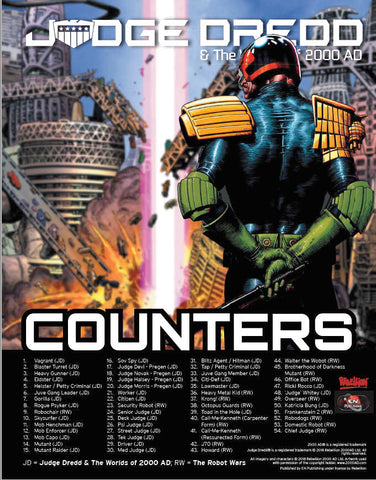 Judge Dredd & The Worlds of 2000 AD Counters