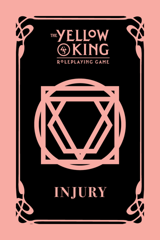 The Yellow King RPG: Injury Cards + complimentary PDF