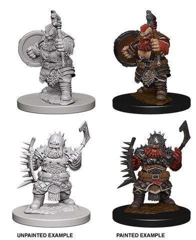 WZK72615 Dwarf Male Barbarian (2 minis) - Pathfinder Deep Cuts