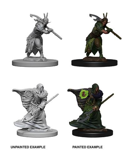 WZK72641 Elf Male Druid (2 minis) - Nolzur's Marvelous Minis