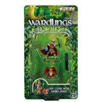 WZK73321 Boy Cleric and Winged Snake: WizKids Wardlings Miniatures