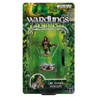 WZK73322 Girl Ranger and Lynx: WizKids Wardlings Miniatures