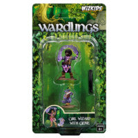 WZK73323 Girl Wizard and Genie: WizKids Wardlings Miniatures