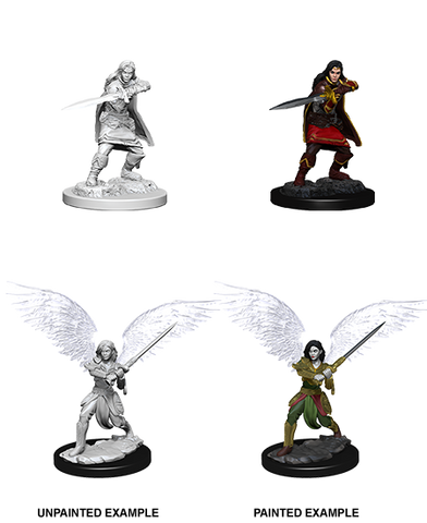 WZK73381 Female Aasimar Fighter: D&D Nolzur's Marvelous Miniatures