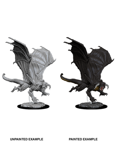 WZK73682: Young Black Dragon: D&D Nolzur's Marvelous Unpainted Miniature (W8) - pre-order expected May 2019