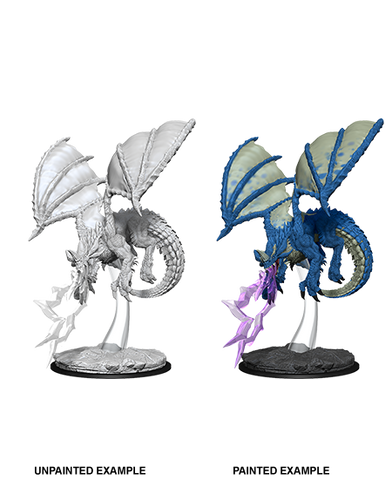 WZK73683: Young Blue Dragon: D&D Nolzur's Marvelous Unpainted Miniature (W8) - pre-order expected May 2019