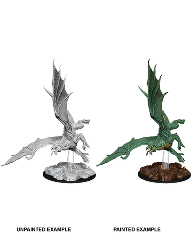 WZK73684: Young Green Dragon: D&D Nolzur's Marvelous Unpainted Miniature (W8) - pre-order expected May 2019