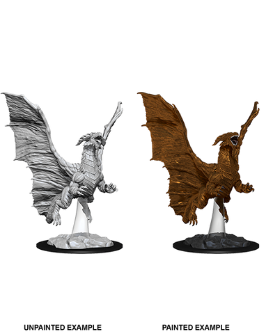 WZK73685: Young Copper Dragon: D&D Nolzur's Marvelous Unpainted Miniature (W8) - pre-order expected May 2019