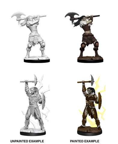 WZK73834: Female Goliath Barbarian: D&D Nolzur's Marvelous Unpainted Miniatures (W10)