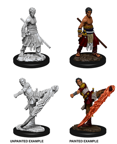 WZK73838: Male Half-Elf Monk: D&D Nolzur's Marvelous Unpainted Miniatures (W10)