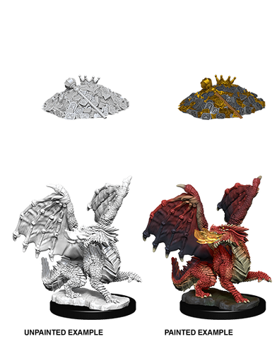 WZK73851: Red Dragon Wyrmling: D&D Nolzur's Marvelous Unpainted Miniatures (W10)