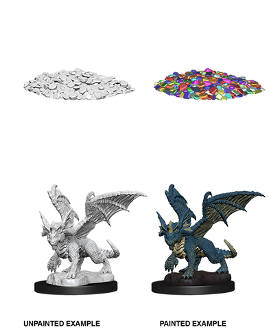 WZK73852: Blue Dragon Wyrmling: D&D Nolzur's Marvelous Unpainted Miniatures (W10)