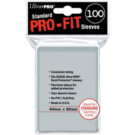 PRO-Fit Standard Size Deck Protectors 100ct (Ultra-Pro)