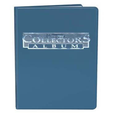 4 Pocket Collectors Portfolio Blue