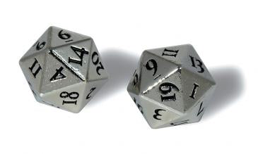 D20 Heavy Metal Dice Set: Chrome