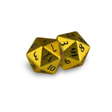 D20 Heavy Metal Dice: Bumblebee