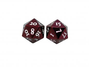 D20 Heavy Metal Dice: Red
