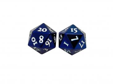 D20 Heavy Metal Dice: Blue