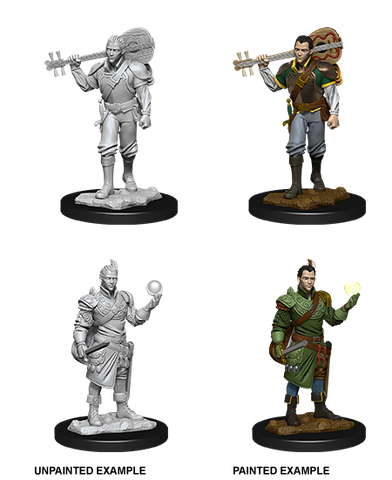 WZK90055 Male Half-Elf Bard: D&D Nolzur's Marvelous Unpainted Miniatures (W12)