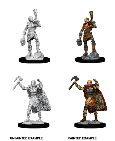 WZK90056 Female Human Barbarian: D&D Nolzur's Marvelous Unpainted Miniatures (W12)
