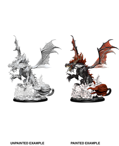 WZK90095 Nightmare Dragon: Pathfinder Battles Deep Cuts Unpainted Miniatures (W12)
