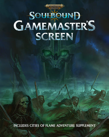 Soulbound Gamemaster's Screen: Warhammer Age of Sigmar Roleplay (expected in stock on 1st December)