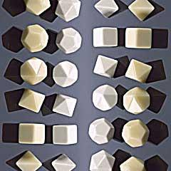 CHX29043 Blank Opaque Ivory d8 (10 Dice) - Leisure Games