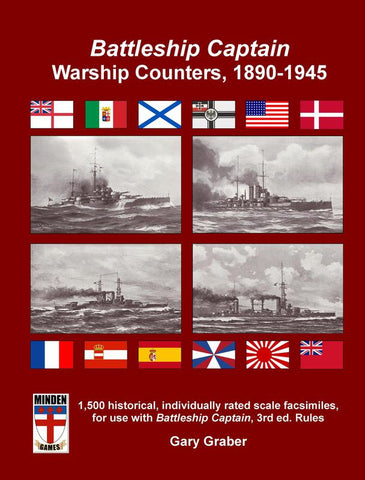 Battleship Captain Warship Counters, 1890-1945 - Leisure Games
