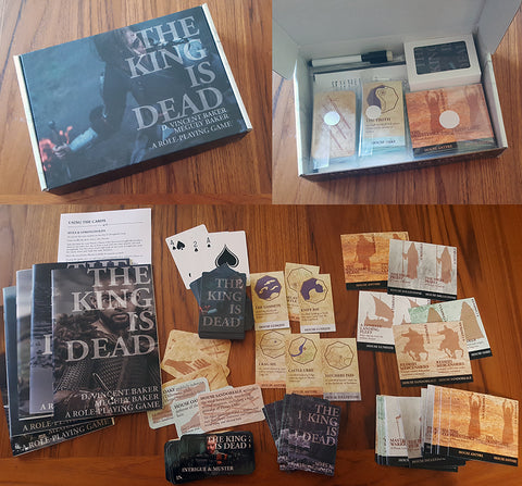 The King Is Dead Cards and Booklets Box Set