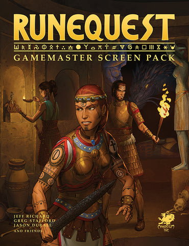 RuneQuest: Gamemaster Screen Pack + complimentary PDF