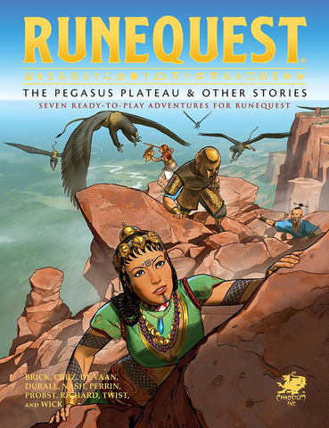 RuneQuest: The Pegasus Plateau & Other Stories – Hardcover + complimentary PDF