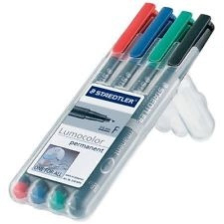 Water Soluble Marker 4 Pack (Black,Red,Blue,Green)(CHX03154)