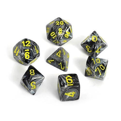CHX27438 Vortex Polyhedral Black with Yellow 7-Die Set
