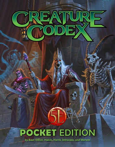 Creature Codex Pocket Edition: 5th Edition