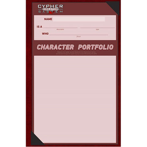 Cypher System Character Portfolio Pack