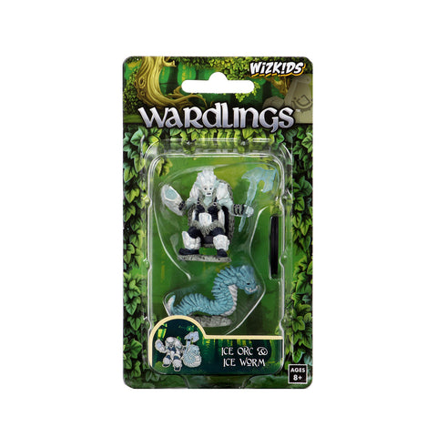 WizKids Wardlings Miniatures: Ice Orc & Ice Worm