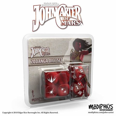 John Carter of Mars RPG: Zodanga Dice Set (expected in stock on 26th March)