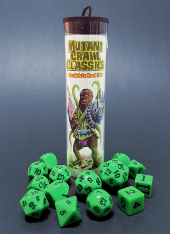 Mutant Crawl Classics: Grakk's Rad Dice