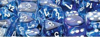 CHX27666 Nebula Dark Blue with White 16mm d6 Dice Block(12 d6)* - Leisure Games
