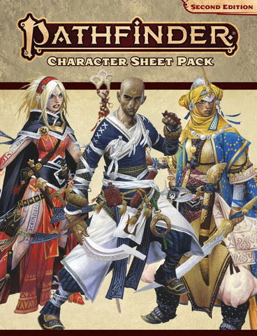 Pathfinder RPG Second Edition: Character Sheet Pack
