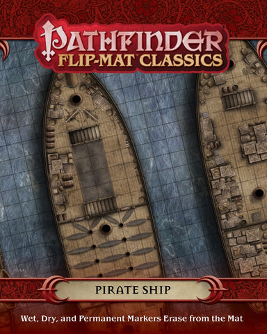 Pathfinder Flip-Mat Classics: Pirate Ship (expected in stock on 18th December)