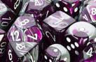 CHX26432 Gemini Purple-Steel with White Polyhedral 7-Die Set - Leisure Games
