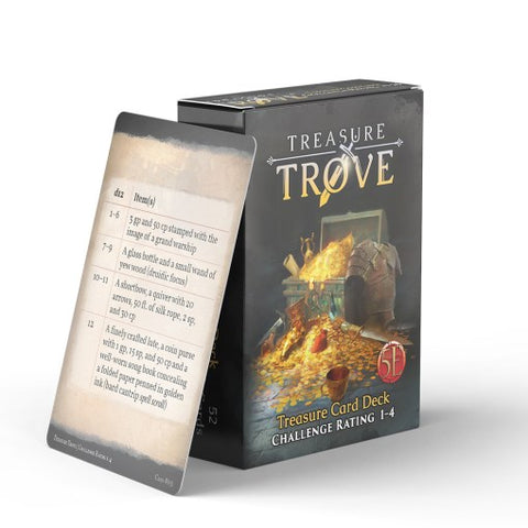 Fifth Edition: Treasure Trove Challenge Rating 1 to 4 Deck