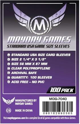 Standard USA Card Sleeves (Mayday MDG7040)