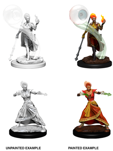 WZK73336 D&D Nolzur's Marvelous Miniatures: Fire Genasi Female Wizard