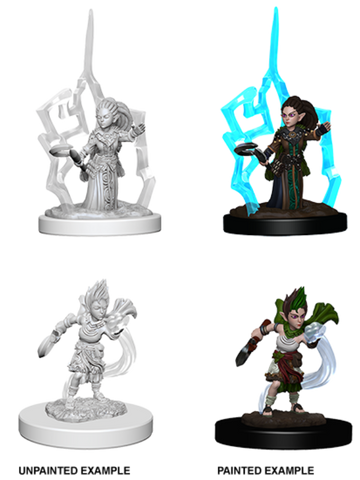 WZK73347 Pathfinder Deep Cuts Unpainted Miniatures: Gnome Female Druid